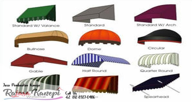 gaya/model kanopi kain